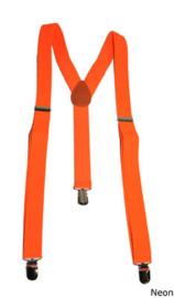 Bretel Fluor / Neon oranje 2,5 cm breed (60828E)