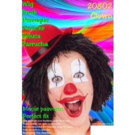 Clownspruik Zwart (20802P)