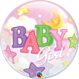 Bubble Baby Girl Moon & Stars (23598Q)