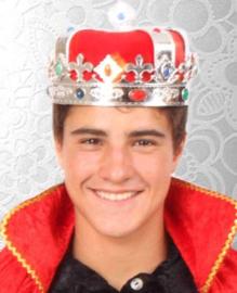 Koningskroon zilver volwassenen (25391P)