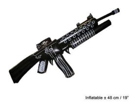 Machinegeweer opblaasbaar - 110 cm (51112E)