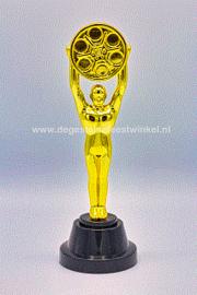 Film beeld /award / prijs gouden ster - 23 cm (84687GF)