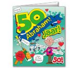 Wenskaart 50 jaar ABRAHAM