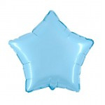 "Folie Ster 18"" - Baby Blauw / Sky Blue / Celeste"