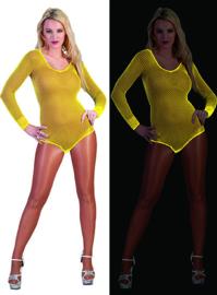 Visnet bodysuit neon Geel (59343E)