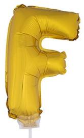 Folie Letter F - 41 cm Goud (met stokje)