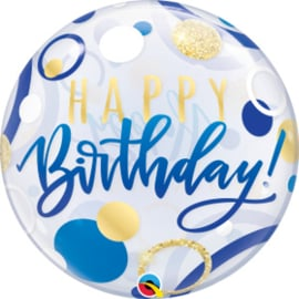 Bubble Birthday Blue & Gold Dots (87748Q)