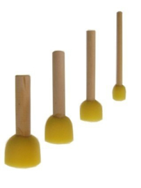 Sponspenselen geel - 4 stuk (40065P)