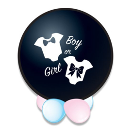Confettiballon gender reveal - BOY - 60 cm (72200W)