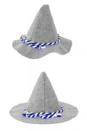 Bayernhoed grijs one size (74801P)
