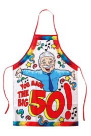 Keukenschort Abraham - 50 jaar (04491P)