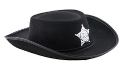 Cowboyhoed sheriff zwart Kind (50361E)