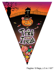 Vlaggenlijn Trick or Treat - 5 meter (74847E)