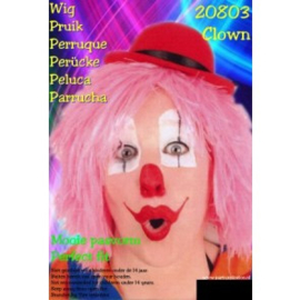 Clownspruik Pink (20803P)
