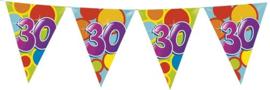 Vlaggenlijn ballonnen leeftijd 30 jaar (10 meter)