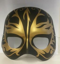 Halfmasker zwart/goud (61376E)