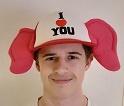 Cap I LOVE YOU met oren - verstelbaar ( 23084GF)