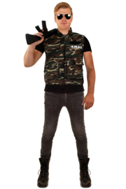 Camouflage vest heren one size (06058P)