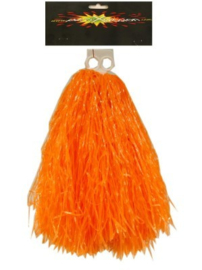 Pom pom cheerleader oranje (84688P)