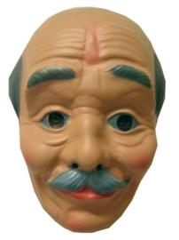 Masker oude kale man - grijze haren  (34130P)