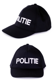 Cap POLITIE zwart - verstelbaar (75301P)