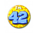 Button 42 jaar