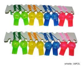 Voetbalfluitjes - 16 stuks (56133E)