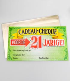 Cadeau-cheque 21 JAAR! (14PD)