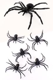 Spinnen 5 stuks - 10 cm (85331P)