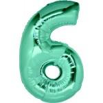 Folie Cijfer 6 - 100 cm Tiffany
