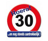 Huldeschild verkeersbord 30 jaar