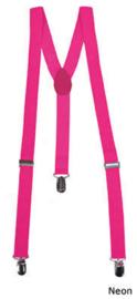 Bretel Fluor / Neon roze 2,5 cm breed (80028E)