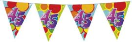 Vlaggenlijn ballonnen leeftijd 45 jaar (10 meter)
