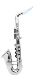Saxofoon zilver - 37 cm (84876P)