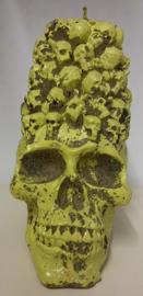 Kaars schedel + schedeltjes (2302GF)