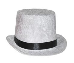 Hoge hoed Wit  - hoofdmaat 60 (63124A)