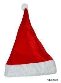 Kerstmuts rood luxe (90033E)