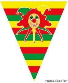Vlaggenlijn Rood Geel Groen / Clowntje - 5 meter (64266E)