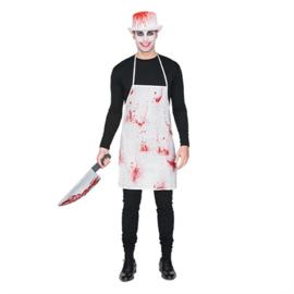 Bloederige slagers schort (E10674W)