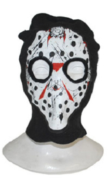 Bivakmuts zwart Jason (hockeymasker)  (74569E)