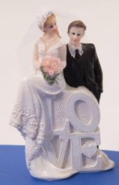 Trouwfiguurtje / bruidspaar man en vrouw / love koppel (21252F2)