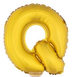 Folie Letter Q - 41 cm Goud (met stokje)