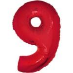 Folie Cijfer 9 - 100 cm Rood