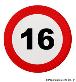Bordjes verkeersbord 16 jaar (84601E)