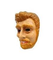 Masker jonge man - bruine haren en baard (34303P)