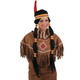 Pruik indiaanse (57274E)
