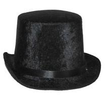 Hoge hoed Zwart  - hoofdmaat 60 (63124A)