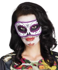 Oogmasker / halfmasker La Violeta (72122B)