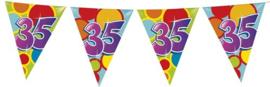 Vlaggenlijn ballonnen leeftijd 35 jaar (10 meter)