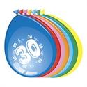Ballonnen 30 jaar (30cm, 8 stuks)